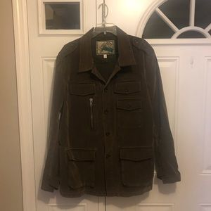 7 For All Mankind Olive Military Style Jacket
